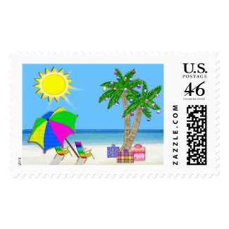 Tropical Stamps, Matching Tropical Christmas Cards