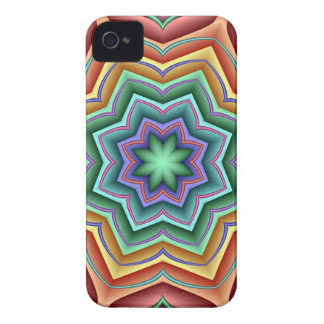 Tropical Star flower, decorative abstract Case-Mate iPhone 4 Case