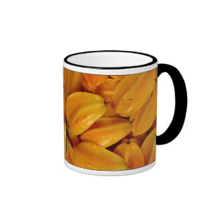 Tropical Star Fruit Ringer Coffee Mug