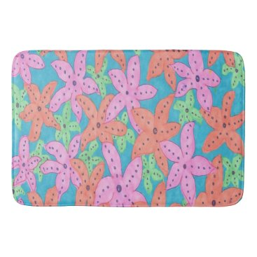 Beach Themed Tropical Starfish Bath Mat