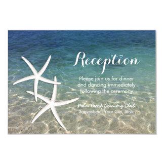Tropical Starfish Beach Wedding Reception Card