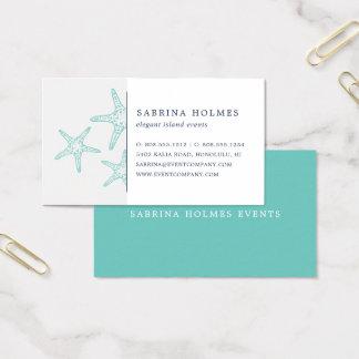 Tropical Starfish Business Cards | Aqua