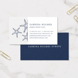 Tropical Starfish Business Cards | Navy