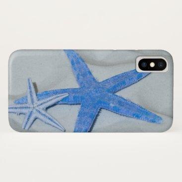 Beach Themed Tropical Starfish On A White Sandy Beach iPhone X Case
