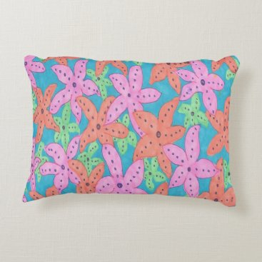 Tropical Starfish Pattern Decorative Pillow