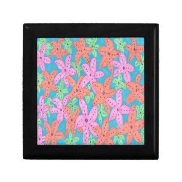 Beach Themed Tropical Starfish Pattern Gift Box