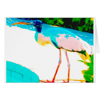 Tropical stork graphic theme greeting cards