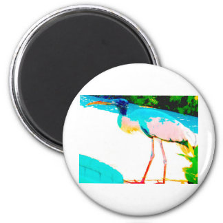 Tropical stork graphic theme magnet