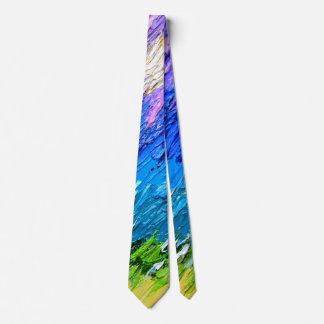 """Tropical Storm #5"" Original Oil Painting Neck Tie"
