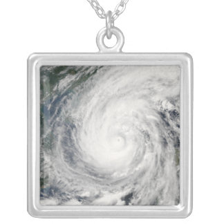 Tropical Storm Chanchu Silver Plated Necklace