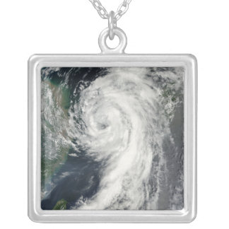 Tropical Storm Dianmu Silver Plated Necklace