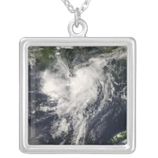 Tropical Storm Edouard Silver Plated Necklace