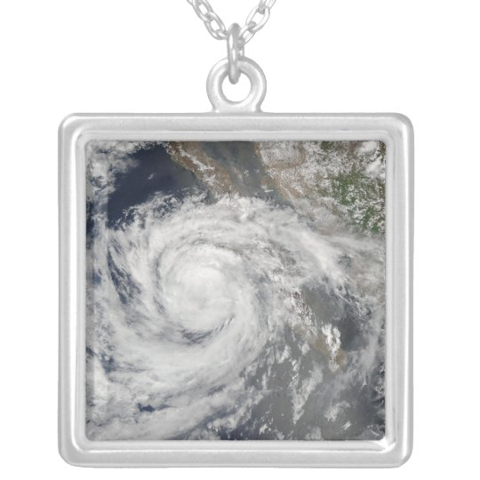 Tropical Storm Emilia Silver Plated Necklace