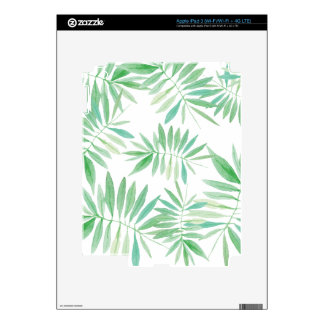 Tropical storm fern and palm iPad 3 decals