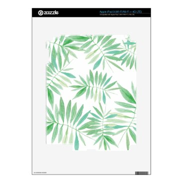 Beach Themed Tropical storm fern and palm iPad 3 decals