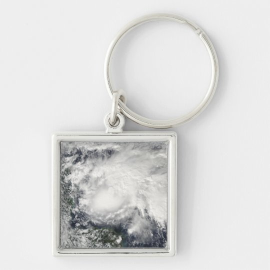 Tropical Storm Ida in the Caribbean Sea Keychain