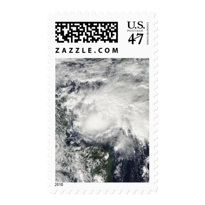 Tropical Storm Ida in the Caribbean Sea Postage Stamp