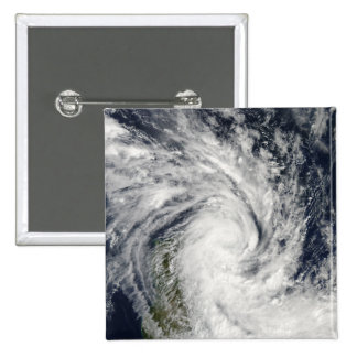 Tropical Storm Jade coming ashore over Madagasc 2 Inch Square Button