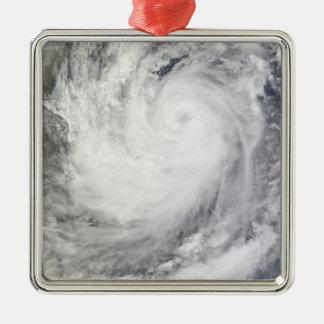 Tropical Storm Ketsana Square Metal Christmas Ornament
