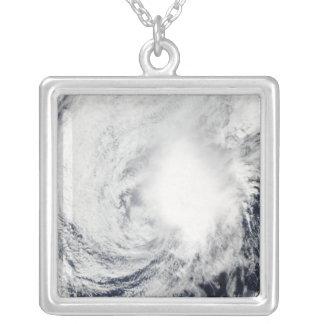 Tropical Storm Nida southeast of Kadena Square Pendant Necklace