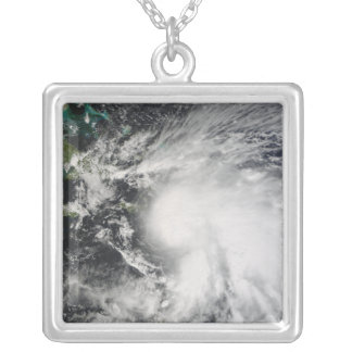 Tropical Storm Noel over Haiti Silver Plated Necklace