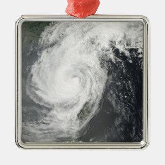 Tropical Storm Parm Square Metal Christmas Ornament