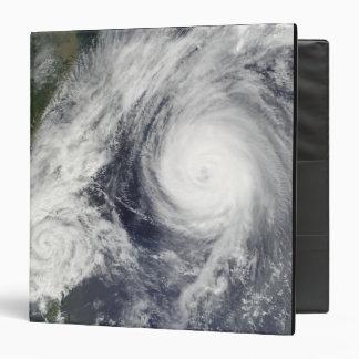 Tropical Storm Parma and Super Typhoon Melor Vinyl Binder