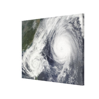 Tropical Storm Parma and Super Typhoon Melor Gallery Wrapped Canvas