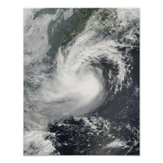 Tropical Storm Parma approaching China and Viet Poster