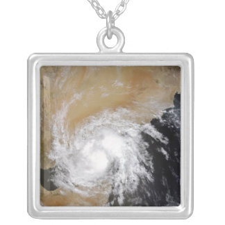 Tropical Storm Three in the northern Indian Oce Silver Plated Necklace