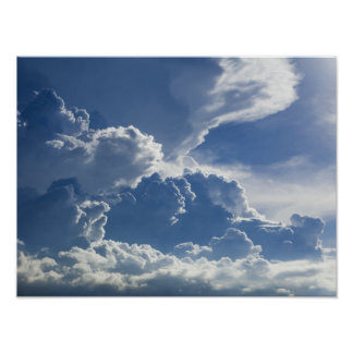 Tropical Storm Towering Clouds Poster