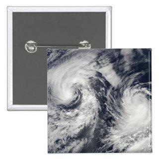 Tropical storms Boris and Cristina 2 Inch Square Button