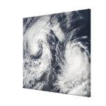 Tropical storms Boris and Cristina Canvas Print