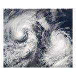 Tropical storms Boris and Cristina Photo Print