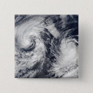Tropical storms Boris and Cristina Pinback Button
