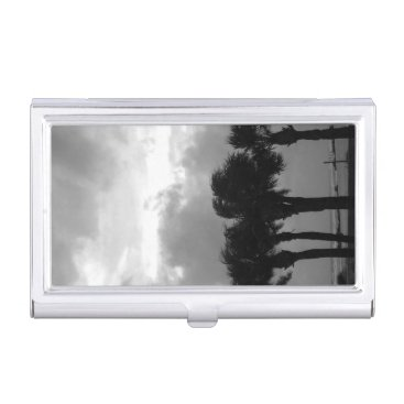 Professional Business Tropical Stormy Skies Grayscale Case For Business Cards