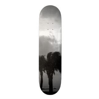Tropical Stormy Skies Grayscale Skateboard