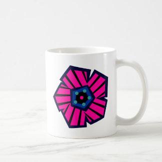 Tropical Striped Flower No1 Coffee Mug