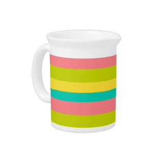 Tropical Stripes Drink Pitcher