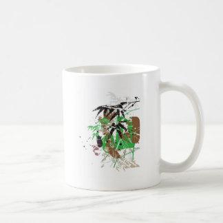tropical style abstract bamboo design coffee mug