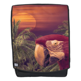 Tropical Style Collage Design Poster Backpack
