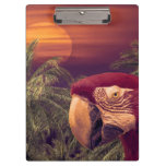Tropical Style Collage Design Poster Clipboard