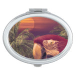 Tropical Style Collage Design Poster Compact Mirror
