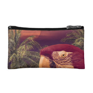 Tropical Style Collage Design Poster Makeup Bag