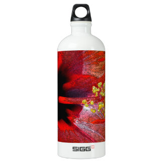 Tropical stylized red hibiscus flower SIGG traveler 1.0L water bottle