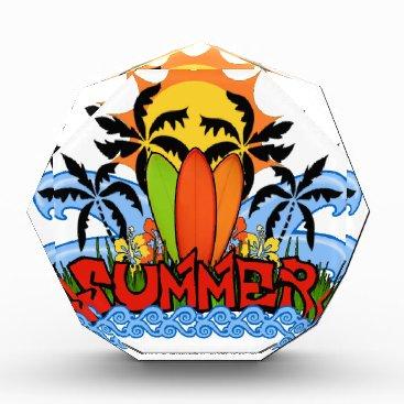 Beach Themed Tropical summer acrylic award
