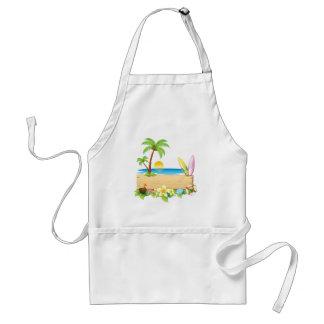 Tropical Summer Adult Apron