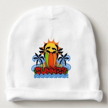 Beach Themed Tropical summer baby beanie