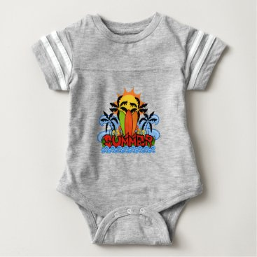 Beach Themed Tropical summer baby bodysuit