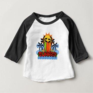 Beach Themed Tropical summer baby T-Shirt